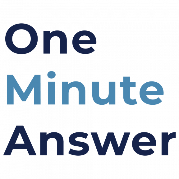 what is one minute answer?
